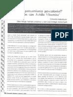 Que Es El Pensamiento Poscolonial Conversación Con Achille Mbembe-- Revista Derrotar- TRADUCCION