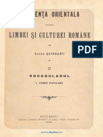 Lazar Saineanu - Influenta Orientala Asupra Limbii Si Culturii Vol.2