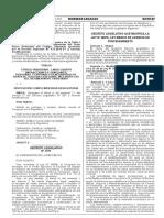Decreto Legislativo que modifica la Ley N° 28976 Ley Marco de Licencia de Funcionamiento