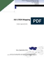 Mapeo ISO 17024