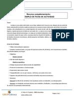 Ejemplo de Ficha de Actividad