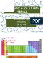 Alkali and Alkaline Earth Metals