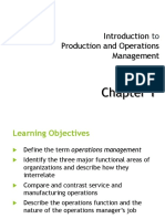 Introduction to Operations Management-Ch 1(Stevenson)