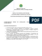 Conteúdos - Edital Docente IFB 05-12