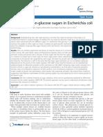 Aidelberg 2014 Hierarchy of Non-glucose Sugars in Escherichia Coli