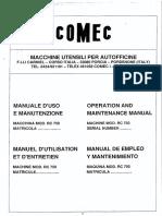 RC750 Manuale Istruzioni I GB FR ES
