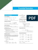 Essential Formulae