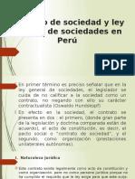 Contrato de Sociedad y Ley General de Sociedades