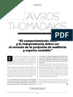 Entrevista a Stavros Thomadaki