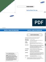 Samsung DCB-H360R Manual