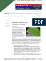 Night Vision vs. Thermal Vision