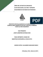 Proyecto de evaluación de las adecuaciones curriculares significativas.
