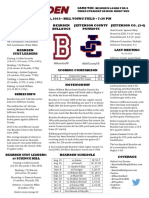 bearden jefferson county football game notes