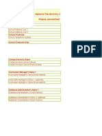 Sample Student Database Inventory Template