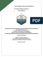 House Oversight Stingray Report 2016