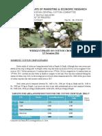 Weekly Update of Cotton Crop 21-11-2016.