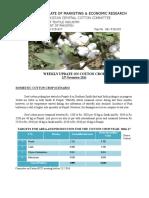 Weekly Update of Cotton Crop 11-11-2016.