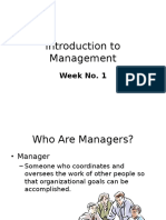 Introduction to Management.