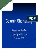 Column Shortening