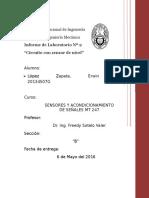 Sensores y Acondicionamiento de Señales UNI FIM  2do informe