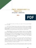 DEL ESPIRITU. HEIDEGGER Y LA PREGUNTA - Derrida.pdf