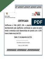 Certificado Meire