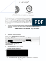 Schlumberger Tax Abatement Application Redacted