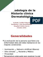 Metodología de la Historia clínica Dermatológica