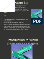Introduction to World Religions and Beliefs PPT