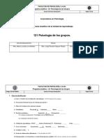 Plan Analitico de Psicologia de Los Grupos
