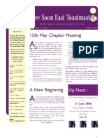 Nee Soon East Toastmasters Club Newsletter - May