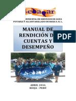 SEDAPAR SRL Manual de Rendicion de Cuentas y Desempeño 2016