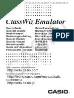 Classwiz Emulator - Guia Del Usuario Multi-language - Es i CA
