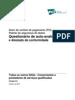 PCI DSS Autoavaliacao PCI