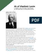The Death of Vladimir Lenin