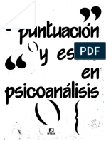 Puntuación y Estilo en Psicoanálisis