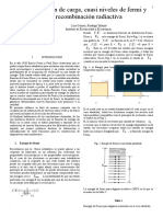 Cuasi Niveles de Fermi y Recombinacion Radiactiva