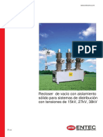 Brochure Solid Recloser Catalog Spanish