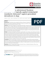 Efficacy of orally administered fluralaner (Bravecto) vs topically applied imidacloprid moxidectin (Advocate®) against generalized demodicosis in dogs