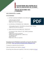comision de peticiones del parlamento europeo