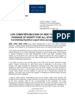 Log Cabin Republicans of NY Dignity Press Release