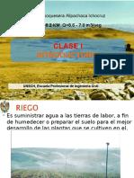 Clase I-proy Riego