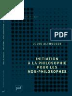 (Perspectives Critiques) Louis Althusser-Initiation à La Philosophie Pour Les Non-philosophes-PUF (2014)
