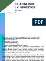 Model Analisis Untuk Investor