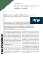 2016 Sex-related Differences in Brain Behavior Association en Infancia