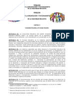 Titulo III Organización y Funcionamiento de La Comunidad Educativa