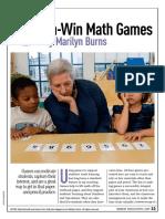 Win-Win Math Games by Marilyn Burns