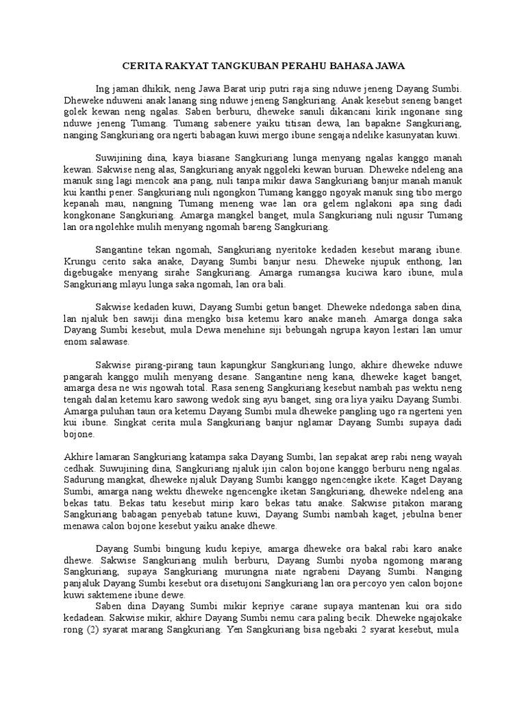 Contoh Cerita Rakyat Dalam Bahasa Jawa Singkat Brad Erva Doce Info