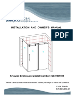 Glass shower Door Installation