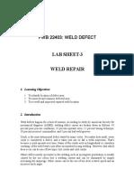 Lab Sheet 3-Weld Repair